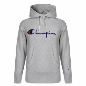 CHAMPION Logo Hooded Sweatshirt - Grey Marl