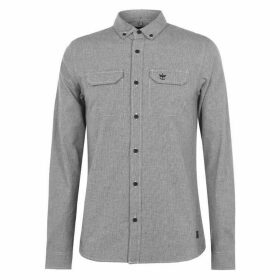 Firetrap Long Sleeve Shirt Mens - White/Black