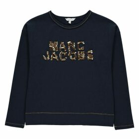 Marc Jacobs Sequin Logo Top - Bleu Cargo 849
