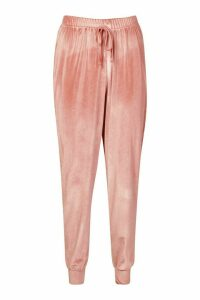 Womens Velour Tracksuit Jogger - pink - 12, Pink