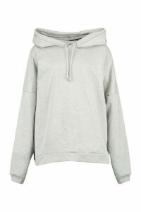 Womens Premium Extreme Oversized Back Print Hoodie - grey - S, Grey