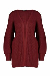 Womens Tall Bell Sleeve Knitted Cardigan - red - M, Red
