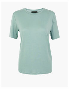 Autograph Tencel  Drape Short Sleeve T-Shirt