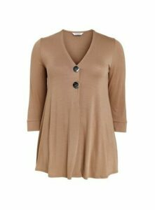 Camel Button Detail Top, Camel