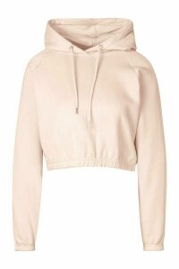 Womens Side Stripe Cropped Hoodie - Pink - 16, Pink