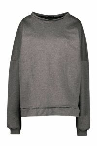 Womens Premium Oversized Back Print Jumper - Grey - M, Grey
