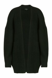 Womens Plus Oversized Boyfriend Cardigan - black - 20-22, Black