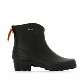 Miss Juliette Rubber Ankle Boots with Chunky Heel