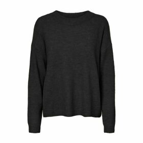 High-Neck Fine Knit Jumper