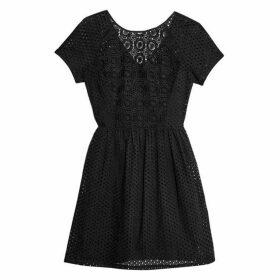 Jack Wills Spalding Cotton Broderie Dress - Black