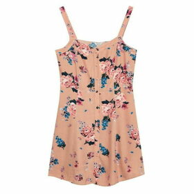 Jack Wills Highbury Button Through Printed Cami Dre - Nude