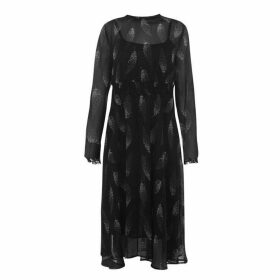 Jack Wills Coston Feather Midi Dress - Black