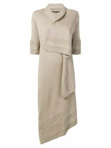 Gianfranco Ferré Pre-Owned wrap asymmetric cardi-coat - NEUTRALS