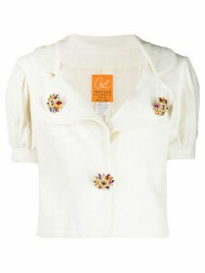 Christian Lacroix Pre-Owned 1990's puffed sleeves blouse - White
