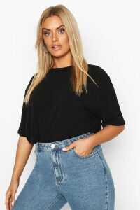 Womens Plus Soft Rib Oversized T-Shirt - Black - 26, Black