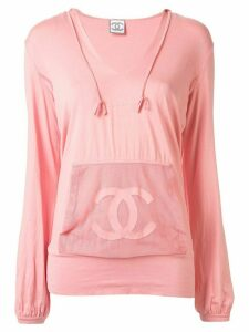 Chanel Pre-Owned Sports Line CC hoodie - PINK