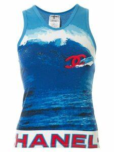 Chanel Pre-Owned Surf Line vest top - Blue