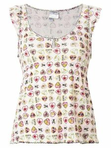Chanel Pre-Owned heart print T-shirt - PINK