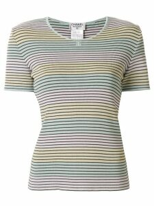 Chanel Pre-Owned 1998 striped T-shirt - Blue