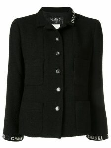 Chanel Pre-Owned 1995 single-breasted logo jacket - Black
