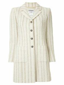 Chanel Pre-Owned striped tweed jacket - Brown