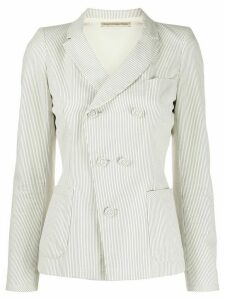 Balenciaga Pre-Owned 1990s striped jacket - NEUTRALS