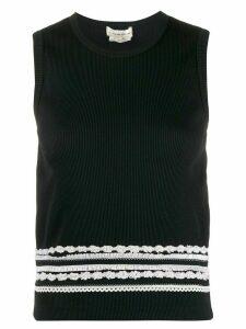 Comme Des Garçons Pre-Owned 1990s embroidered top - Black