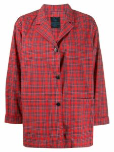 Valentino Pre-Owned 1990s checked boxy shirt - Red