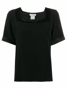 Yves Saint Laurent Pre-Owned 1990s square neck top - Black
