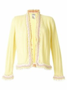 Chanel Pre-Owned ruffle trim cardigan - Yellow