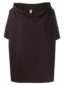 Romeo Gigli Pre-Owned 1990s oversized collar top - PURPLE