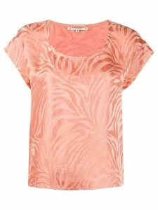 Yves Saint Laurent Pre-Owned 1980s zebra print T-shirt - PINK