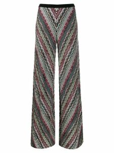 Missoni Pre-Owned 1990s wave weave trousers - Blue