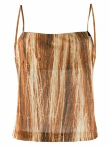 Maison Martin Margiela Pre-Owned 1990s blurry stripes camisole - Brown