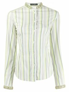 Dolce & Gabbana Pre-Owned 1990s embellished trim shirt - White