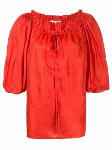 Yves Saint Laurent Pre-Owned 1970s puff sleeve blouse - Red