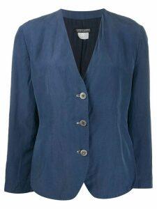 Giorgio Armani Pre-Owned 1990s single-breasted jacket - Blue