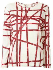 Hermès Pre-Owned ribbon print T-shirt - Red