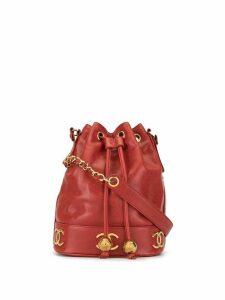 Chanel Pre-Owned 1994-1999 Triple CC shoulder bag - Red