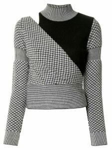 Dolce & Gabbana Pre-Owned checked cut-off knitted top - Black