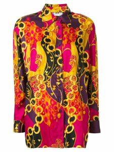 Céline Pre-Owned silk chain print shirt - Multicolour