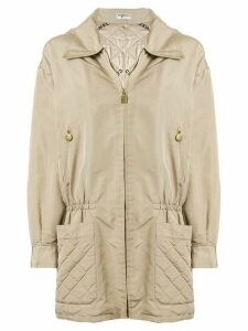 Chanel Pre-Owned Sports Line silk hooded jacket - Brown