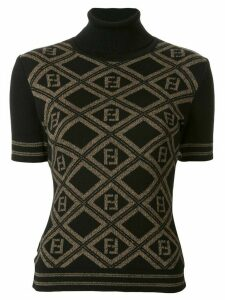 Fendi Pre-Owned argyle Zucca pattern knitted top - Brown