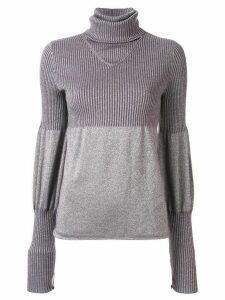 Chanel Pre-Owned 2005 puffed details knitted top - PURPLE