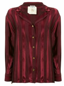 Chanel Pre-Owned silk striped shirt - Red