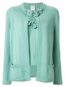 Chanel Pre-Owned 2005's CC logos ensemble cardigan tops - Green
