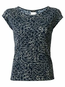 Chanel Pre-Owned 2006 CC 5 print blouse - Blue