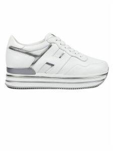 Hogan White Midi Platform Sneakers
