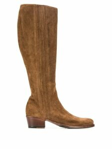 Alberto Fasciani Yara textured knee-length boots - Brown