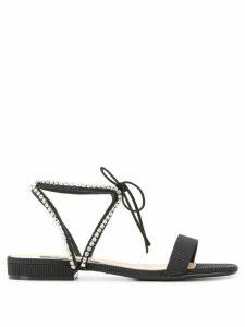 Sergio Rossi rhinestone sandals - Black